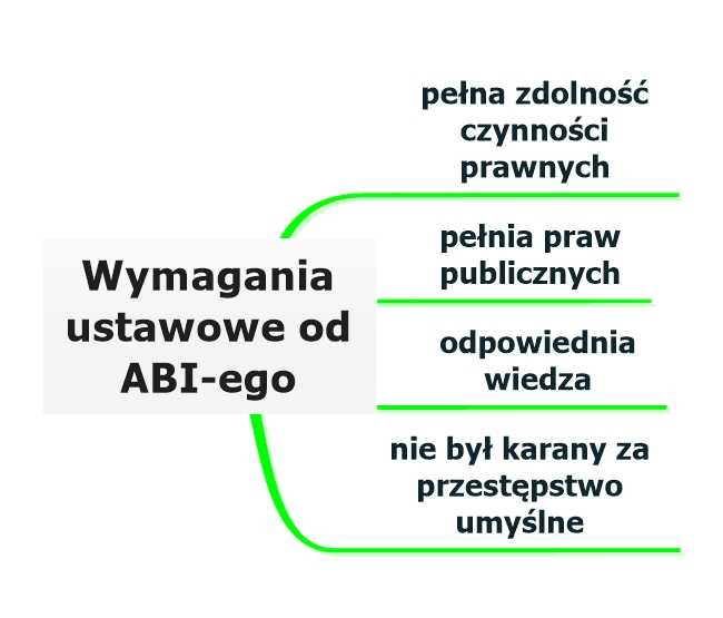 Wymagania ustawowe od ABI-ego
