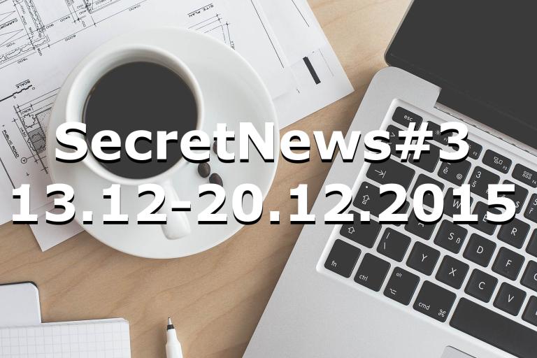 SecretNews#3 |13.12-20.12.2015