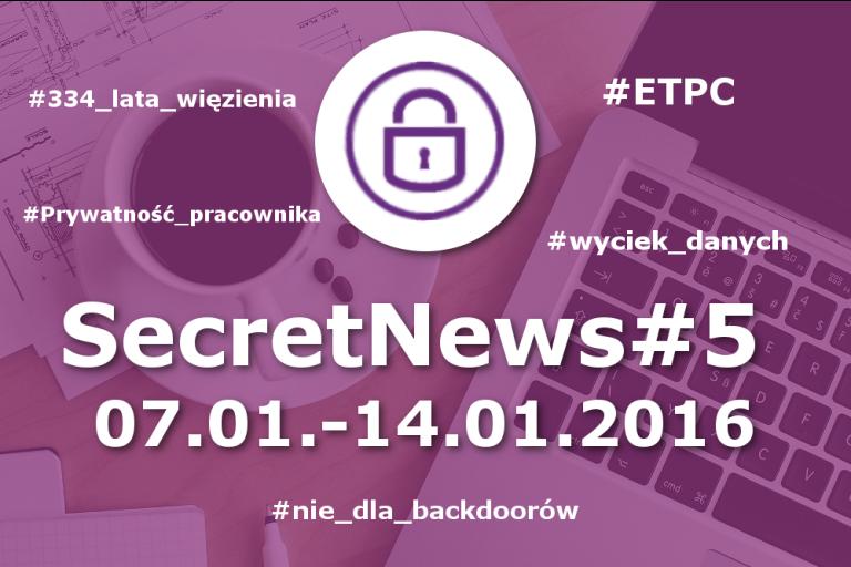 Secret News #5| 07.01-14.01.2016